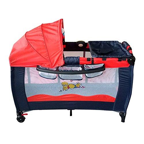 Lit pliable portatif de berceau de lit de voyage de bébé de bébé joue la tente de sommeil de moustique de Wefun