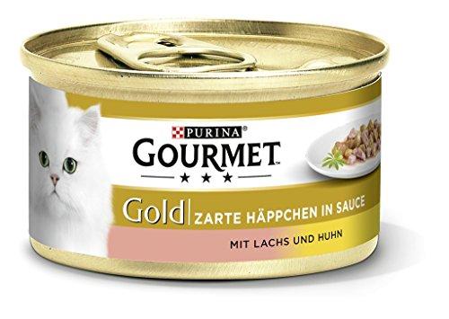 Purina Gourmet Gold Kattenvoer, met Zalm en Kip, 12 Stuks (12 x 85 g)