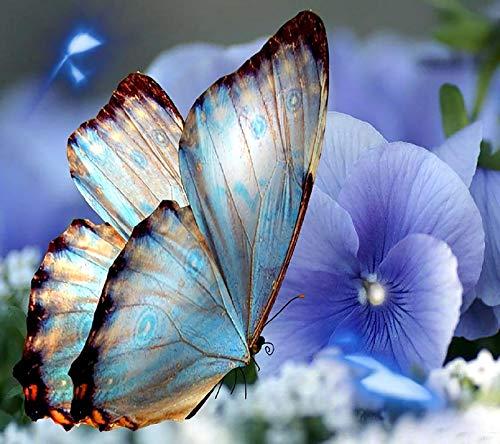 WYTTT Klassisches Puzzle 1000 Teile Erwachsene Puzzle Holzpuzzle 3D Puzzle Schmetterlinge Und Blumen DIY Pädagogisches Puzzle Weihnachten Wohnkultur Geschenk,75X50Cm