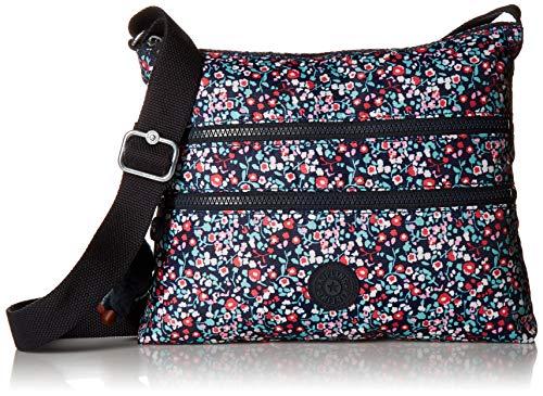 Kipling Damen Umhängetasche Alvar Solid, Glänzendes Mohnblumen (mehrfarbig) - HB6141-454
