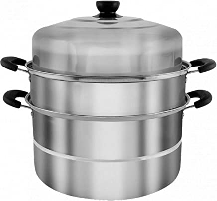 HTC 3 Layer Multipurpose Stainless Steel Steamer Pot 9 Liters x 30 cm,HTC-272-S