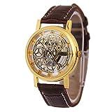 Herren Damen Uhren, Hohle Nicht Mechanische Uhren, Lässige Gürtelquarzuhren