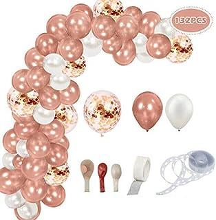 Oro Rosa Kit De Guirnalda De Globos 132 Piezas Guirnalda De Arco De Látex Globos Confeti Blancoy Dorado Lleno Paquete De G...