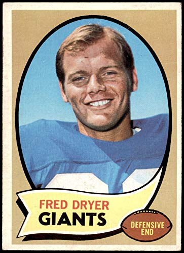 1970 Topps Football 247 Fred Dryer ROOKIE New York Giants Excellent