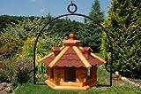 Vogelhaus mit Gauben Nr16 Dach rot und Bügel zum aufhängen von Vogelhaus, Nistkasten,...