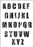 UMR-Design W-638 Font Wood Wand / Textilschablone Grösse A5