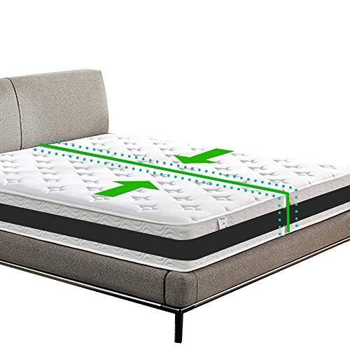 Supporto per materasso | collega due materassi a una grande superficie | regolabile | supporto per materasso | ponte matrimoniale | cuneo per materasso | ponte per letto | ponte del materasso | ponte