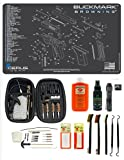 EDOG 29 Pc Pistol Cleaning System - Compatible with Browning Buckmark - Schematic (Exploded View) Mat, Range Warrior Universal .22 9mm - .45 Kit & Clenzoil CLP & Hoppes Gun Oil & Patchs