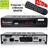 Univision UNT160 digitaler DVB-T2 Receiver inkl. 3 Monate Freenet TV (H.265, HDMI, SCART, USB, LAN) in schwarz