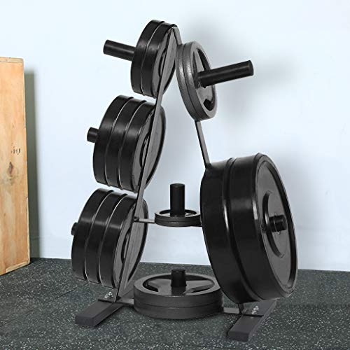 Euone_Home Weightlifting Bench, Weight Plate Rack Weight Plate Tree 2 inch for Bumper Plates Free Weight Stand