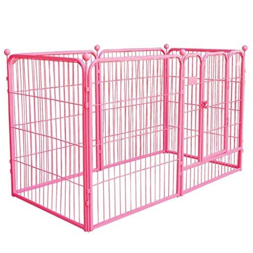 LQBDJPYS Laufstall Heavy Duty Tragbare Übung Hund Playpen, Extra Large Metal Pet Fence Haus mit Tür, Innen Außen Toy (Size : 120×60×70cm)