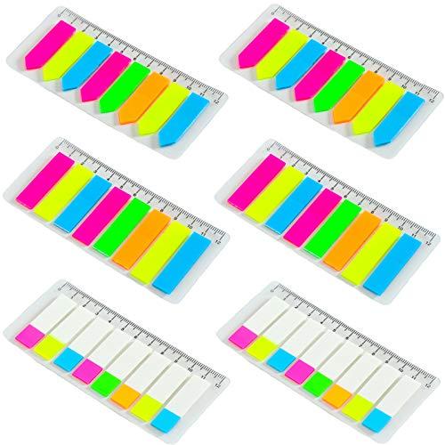 DHER Marcador De Pegatinas De Colores Escribible Notas Adhesivas Marcadores De Marcadores Adhesivas Notas Adhesivas Transparentes Fluorescentes Con Regla Etiqueta, Indicador, Adhesivo De íNdice