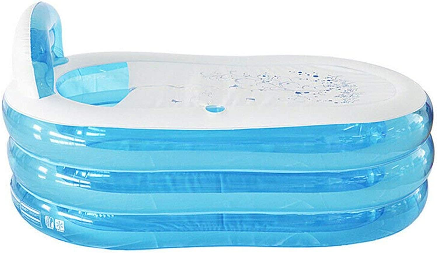 Giow Inflatable bath for shower and bath, thick bath, bluee, 130  70  70cm