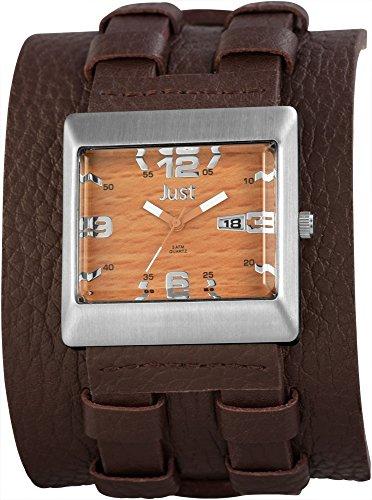 Just Watches 48-S9867BR-BR - Orologio da polso uomo, pelle, colore: marrone