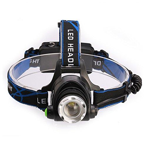 Lampe frontale à LED, Lampe L2, 1000 Lumens Lampe frontale LED CREE XM-L2, 3 heures d'éclairage continu, pour Camping / Voyage / Randonnée / Aventure / Pêche de nuit