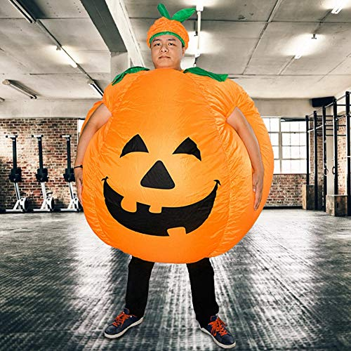 Keenso Traje de Pantalones Divertidos de polister, Ropa Inflable de Disfraz de Calabaza de Halloween para Halloween, Fiestas, Cosplay