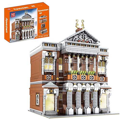 KEAYO Bloques de construcción para casa, Mould King 16032, 2875 piezas, tamaño grande, modular de conciertos con iluminación, MOC, bloques de sujeción, modelo compatible con casa Lego