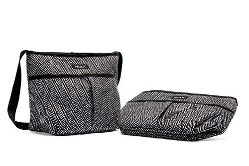 PackIt Carryall Sophie Bolso Portalimento Congelable, Lona Impermeable, Gris, 15.2x33x22.9 cm: Amazon.es: Hogar