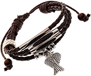 SOLDOUT™ Trendy Multilayer Bangle Jewelry Charms Men Leather Braided Beaded Bracelet Retro Fashion