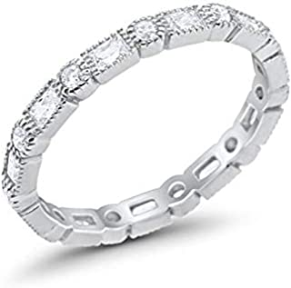 Best women's stainless steel cz rings Reviews