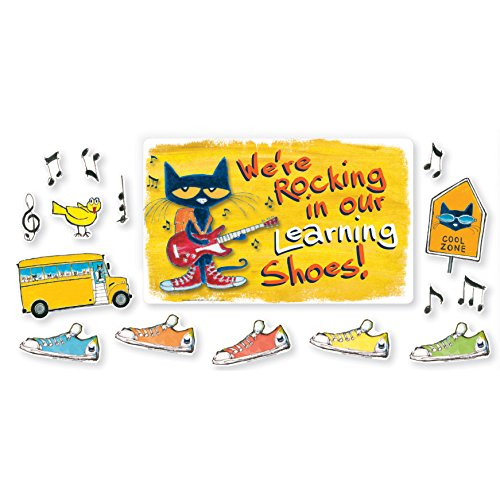 Edupress Pete The Cat We're Rocking in Our Learning Shoes Bulletin Board (EP62383)