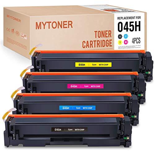 MYTONER Compatible Toner Cartridges Replacement for Canon 045H 045 Toner Cartridge for Canon MF634cdw MF632cdw Canon ImageCLASS MF634cdw MF632cdw LBP612cdw LBP613Cdw LBP611Cn Printer -4P