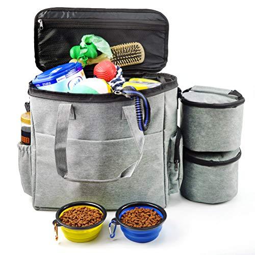 Bolsa de viaje para perros, organizador de bolsas, bolsillos multifunción con bolsa...