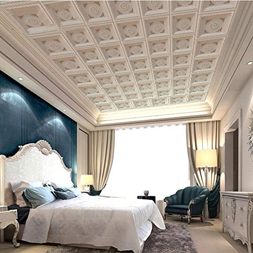 Europäische deckentapete wohnzimmer dachtapete 3d luxus deckenwandbild 5D vlies nahtlose wandverkleidung