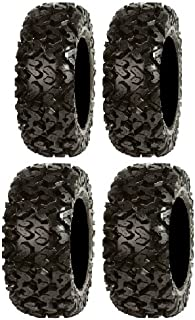 Full set of Sedona Rip Saw 27x9-14 and 27-11-14 ATV Tires (4) by Powersports Bundle