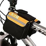 BOI自転車ビームパッケージ自転車フレームラックチューブバッグ、サイクリングバッグ黄色