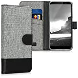 kwmobile Wallet Case Compatible with HTC U12 Life - Fabric