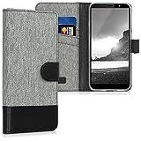 kwmobile Coque HTC U12 Life Portefeuille - Étui à Rabat Simili Cuir pour HTC U12...