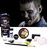 Graftobian Zombie Makeup Kit - Complete 13 piece Halloween Kit with Full Color Instructions