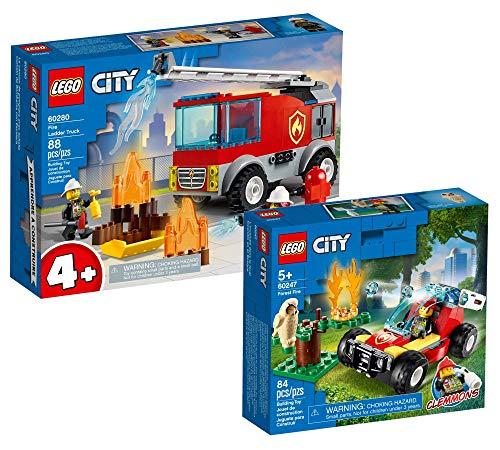 Collectix Lego Set – Coche de bomberos Lego City 60280 + Lego City 60247, niños a partir de 5 años