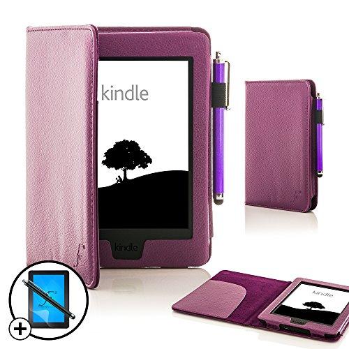 Forefront Cases® Nueva Cubierta y Funda de Cuero para el Amazon Kindle Paperwhite 2015 – Función de Modo de Reposo Automático Inteligente + Lápiz Óptico y Protector de Pantalla
