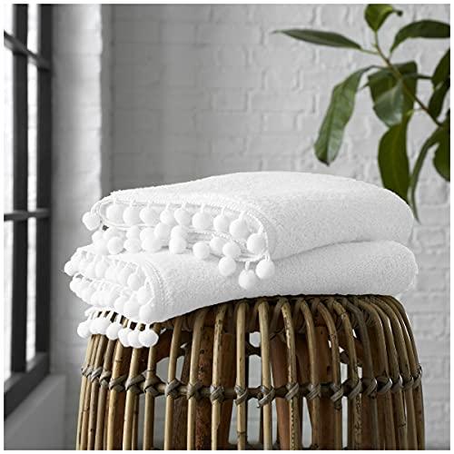 GC GAVENO CAVAILIA Juego de 2 Toallas de Mano de algodón Puro de 550 g/m² o Toallas de baño Ultra Suaves, superabsorbentes, egipcias, Blancas, Paquete de 2