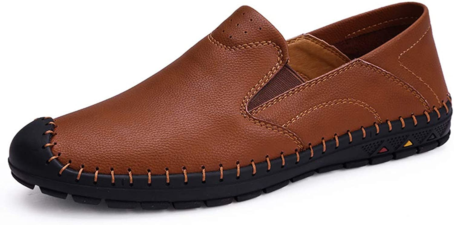 CEKU Men's Driving Loafer Leather Handmade Casual Slip on Flats Moccasins Penny Italian Slipper Dress shoes