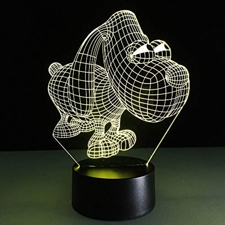 Mozhate 3D Led Visuelle Big Eye Dog Modellierung USB Nachtlicht Cartoon Schreibtischlampe Für Weihnachtsschmuck Home Decor Leuchte,Remote und berühren