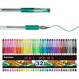 Glitter Gel Pens 32 Fine Point Glitter Markers,Colored Pens for Adult Coloring Books Bullet Journals Scrapbook Planner,Writing Note Taking Coloring Drawing Doodling