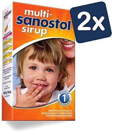 Multi-Sanostol Sirup: Multivitaminpräparat für Kinder ab 1 Jahr zur Vorbeugung von kombinierten Vitaminmangelzuständen, 2x300g