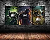 Artwu Dead by Daylight 3PCS IFUNEW Wall Art Home Wall Decorations for Bedroom Living Room Oil Paintings Canvas Prints-883 (Unframed)