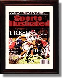 Framed Alabama Quarterback Tua Tagovailoa - Fresh Heir - SI Autograph Replica Print