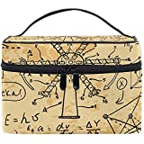 Bolsa de cosméticos de Viaje Fórmula matemática Molino de Viento Bolsa de Maquillaje Bolsa Bolsa Totalizador Organizador Almacenamiento para Mujeres Niñas