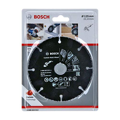 Bosch Professional Disco de corte Carbide Multi Wheel Multi Material (Ø 125 mm, accesorio para amoladora)