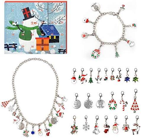 AleapDoll Advent Calendar 2020 Christmas Countdown Calendar Christmas Charm Bracelet Necklace product image