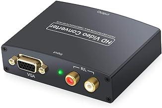 eSynic 1080P VGA to HDMI HD HDTV Video Adapter+R/L RCA Phono Stereo Audio Converter Box for PC HDTV Sky, [Importado de Reino Unido]