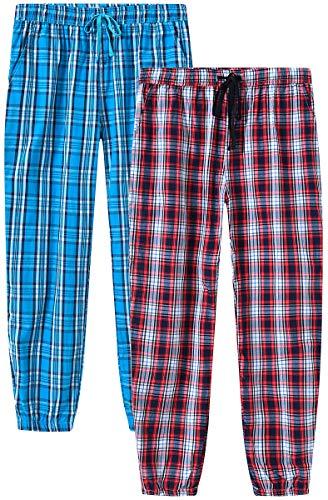MoFiz - Pantalones largos de pijama para mujer, de algodón, para verano, tiempo libre 2 Pack-01 XX-Large