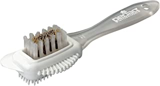 pedag Suede Shoe Cleaner Brush | 4-Way Cleaning and Refreshing Brush for Suede Leather Products with Brass and Nylon Bristles
