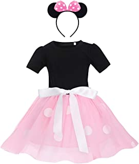 Minnie Tutu Carnival Pageant Dress Party Mouse Ears 2pcs Cosplay Halloween Clothes Set for Girls 1st 2nd 3rd 4th 5th 6th B...