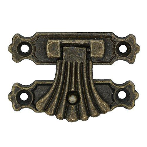 maDDma ® 5 Kasten-Schlösser 37x27mm Kistenverschluss Truhenverschluss Schatullenschloss antik